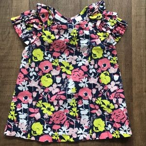 Little Girls floral top